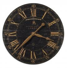 "Uttermost 06029 - Uttermost Bond Street 18"" Black Wall Clock"