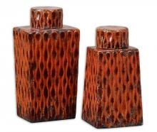Uttermost 19504 - Uttermost Raisa Burnt Orange Containers, Set/2