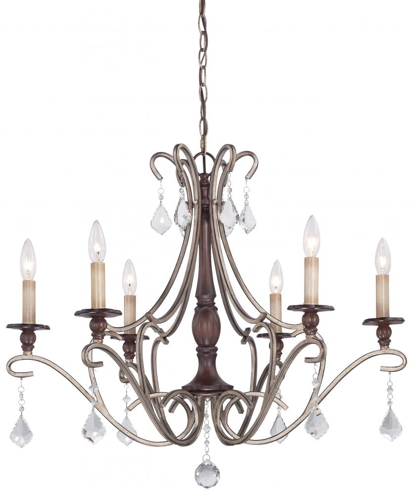 House of Lights in Mayfield Heights, Ohio, United States,  VZNL, 6 Light Chandelier, Gwendolyn Place