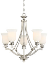 Minka-Lavery 3295-613 - 5 Light Chandelier in Polished Nickel w/Etched Opal Glass
