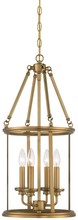 Minka-Lavery 4174-249 - Four Light Gold Open Frame Foyer Hall Fixture