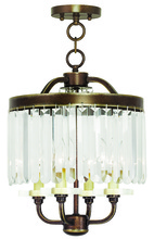 Livex Lighting 50543-64 - 4 Light PBZ Mini Chandelier/Flush Mount