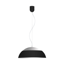 Eglo 202268A - 1x35W LED Pendant w/ Black Outer Finish & Silver Interior Finish