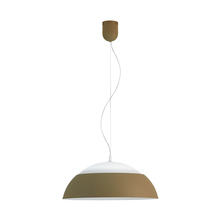 Eglo 39294A - 1x35W LED Pendant w/ Taupe Outer Finish & White Interior Finish