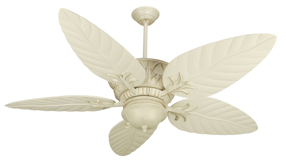 "House of Lights in Mayfield Heights, Ohio, United States,  P36A, Pavilion 52"" Ceiling Fan Kit in Antique White Distressed, Pavilion"