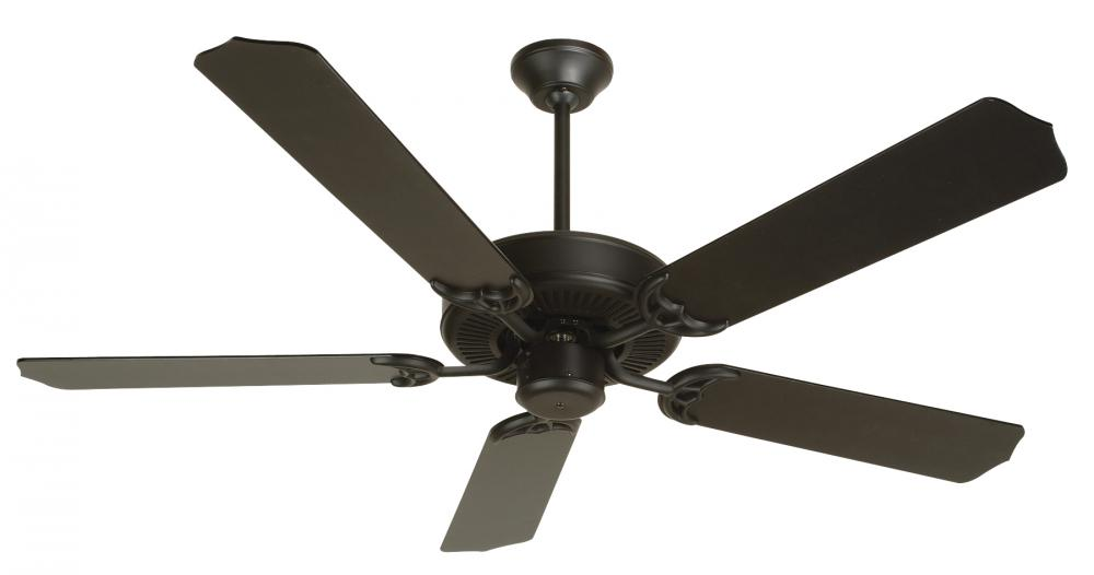 House of Lights in Mayfield Heights, Ohio, United States,  P43Z, Fb - Flat Black Ceiling Fan, Contractor's Design