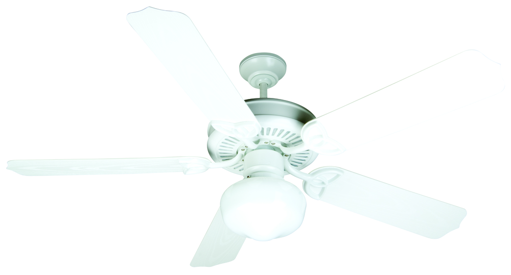 "Outdoor Patio 52"" Ceiling Fan Kit with Light Kit in White"
