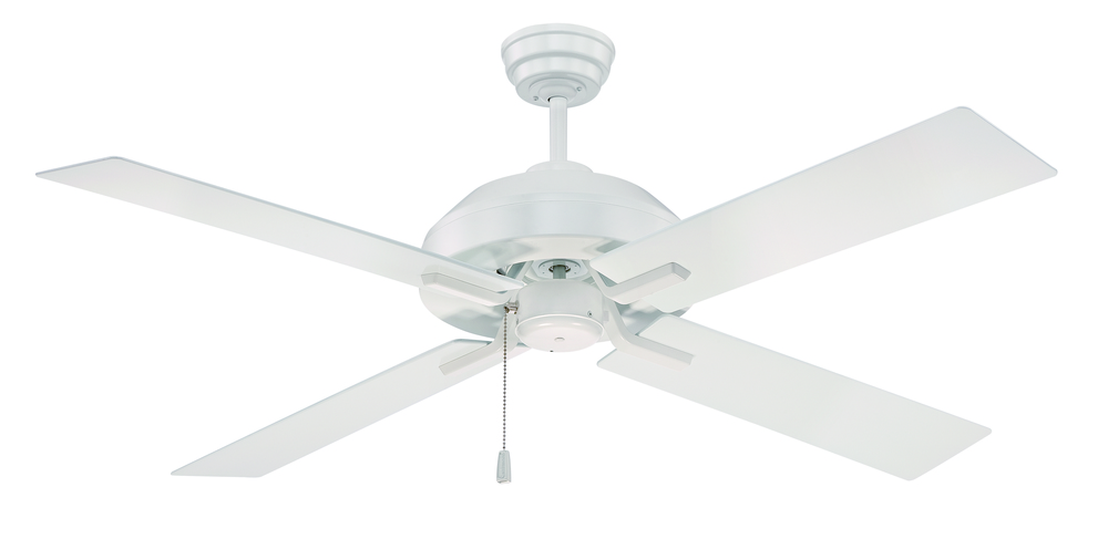 "House of Lights in Mayfield Heights, Ohio, United States,  P097, South Beach 52"" Ceiling Fan with Blades and Light in White, South Beach"