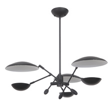 Craftmade 44323-FB-LED - Pavilion 3 Arm LED Chandelier in Flat Black