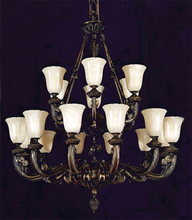 Crystorama 888-36-BZ - Crystorama 18 Light Bronze Chandelier