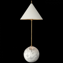 Visual Comfort KW 3118AB/WHT - Cleo Orb Base Accent Lamp in Antique-Burnished B