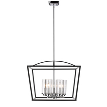 Golden 4309-5 BLK-SD - 5 Light Chandelier