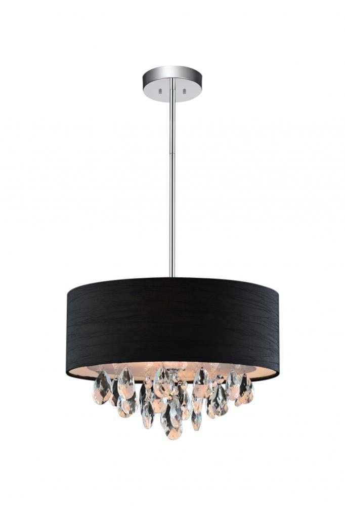 House of Lights in Mayfield Heights, Ohio, United States,  305X5A9, 4 Light Chrome Drum Shade Chandelier from our Dash collection, Dash