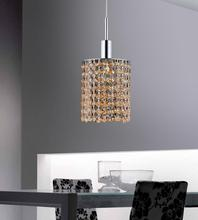 Crystal World 4281P-R-R Champagne/clear - 1 Light Chrome Down Mini Pendant from our Glitz collection