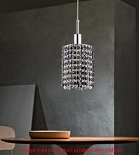 Crystal World 4281P-R-R Smoke/clear - 1 Light Chrome Down Mini Pendant from our Glitz collection