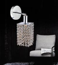 Crystal World 4281W-R-S (Clear) - 1 Light Chrome Bathroom Sconce from our Glitz collection