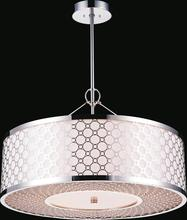 Crystal World 5504P20ST - 5 Light Chrome Down Chandelier from our Swiss collection