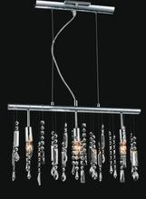 Crystal World 5549P22C - 3 Light Chrome Down Chandelier from our Janine collection