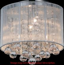 Crystal World 5556C10C-R (B) - 4 Light Chrome Drum Shade Flush Mount from our Shower collection