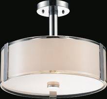 Crystal World 5571P14C-R - 3 Light Chrome Drum Shade Chandelier from our Lucie collection