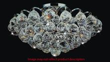 Crystal World 8008C12C - 3 Light Chrome Flush Mount from our Glimmer collection