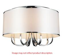 Crystal World 9848C16-3-601 (White) - 3 Light Chrome Drum Shade Flush Mount from our Orchid collection