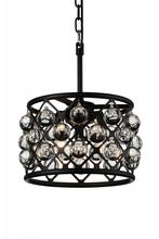 Crystal World 9862P12-3-101 - 3 Light Black Chandelier from our Renous collection