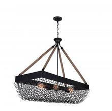 Crystal World 9963P40-6-207 - 6 Light Antique Black Island / Pool Table Chandelier from our Mackenzie collection
