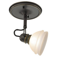 One Light Bronze Directional Flush Mount E6vj