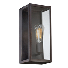 Eurofase Online 25602-012 - Retto Metal Panel Framework Outdoor Sconce, Clear Glass, Weathered Bronze Metal Finish, 1 Edison Lig