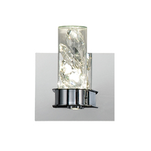 Eurofase Online 28114-017 - York Crystal Drops 2 LED Wall Sconce, Clear Glass Cylinders, Chrome Finish, 5.5 Inches Wide - Model