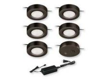 Vaxcel International X0061 - Dual Mount Instalux� Under Cabinet Puck Light 5-pack Kit