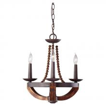 Feiss F2750/3RI/BWD - 3 - Light Single Tier Chandelier