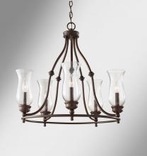 Feiss F2783/5HTBZ - 5 - Light Single Tier Chandelier