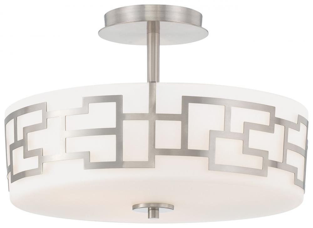 House of Lights in Mayfield Heights, Ohio, United States,  FDVF, 3 LIGHT SEMI FLUSH MOUNT, Alecia's Necklace