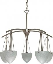 Nuvo 60-130 - South Beach 5 Light Chandelier