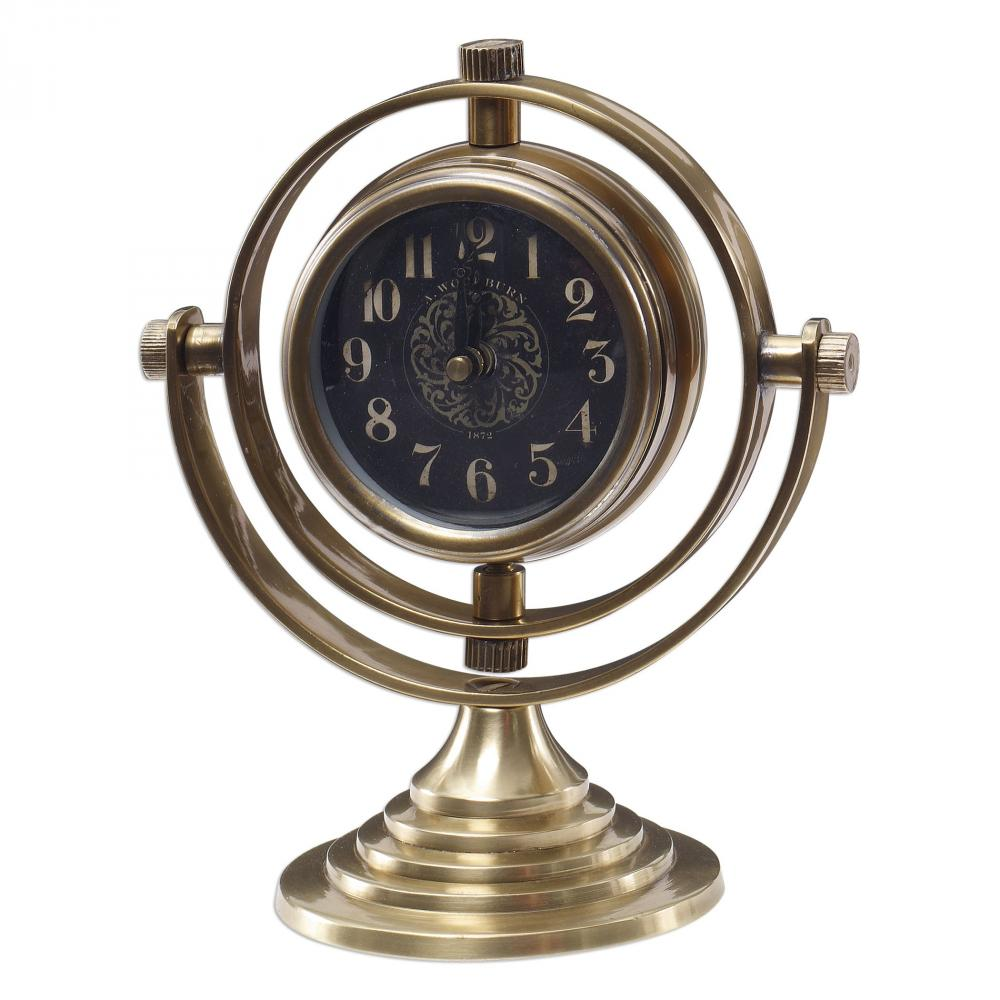 House of Lights in Mayfield Heights, Ohio, United States,  9PYVV, Uttermost Almonzo Table Clock, Almonzo