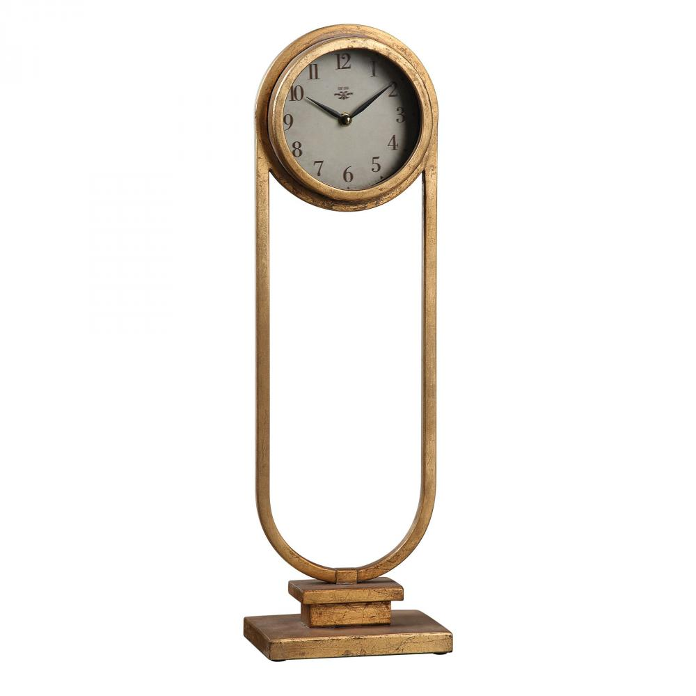 House of Lights in Mayfield Heights, Ohio, United States,  9WTDR, Uttermost Alard Gold Table Top Clock, Alard