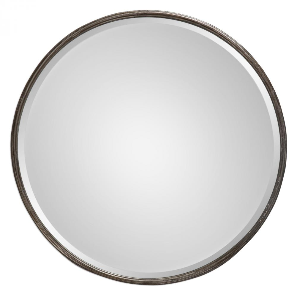 House of Lights in Mayfield Heights, Ohio, United States,  9TQR2, Uttermost Nova Round Metal Mirror, Nova