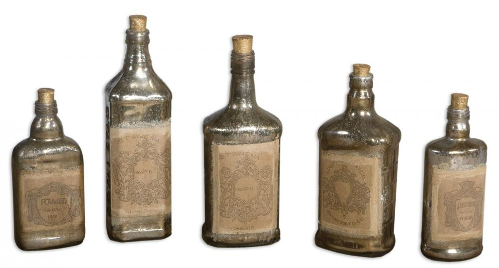 House of Lights in Mayfield Heights, Ohio, United States,  Y2HM, Uttermost Recycled Bottles Set/5, Recycled Bottles
