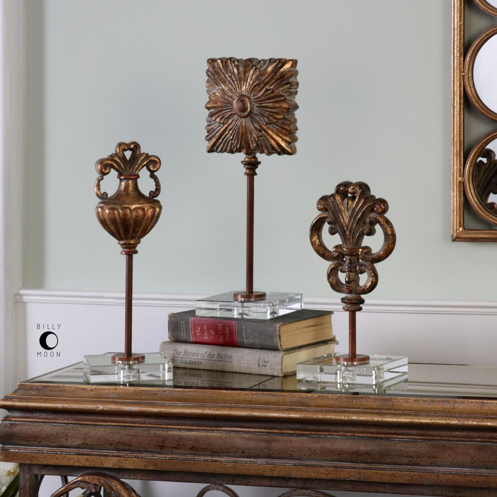 House of Lights in Mayfield Heights, Ohio, United States,  9TRPF, Uttermost Cesare Gold Accessories, S/3, Cesare