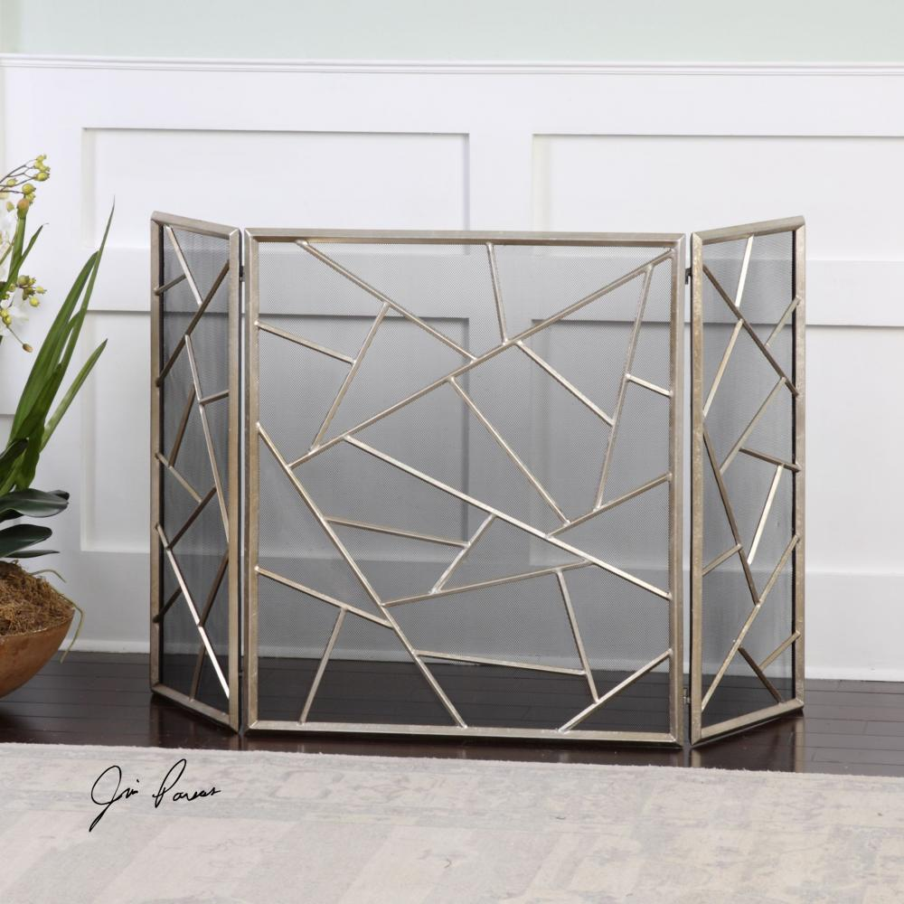 House of Lights in Mayfield Heights, Ohio, United States,  9TRPL, Uttermost Armino Modern Fireplace Screen, Armino