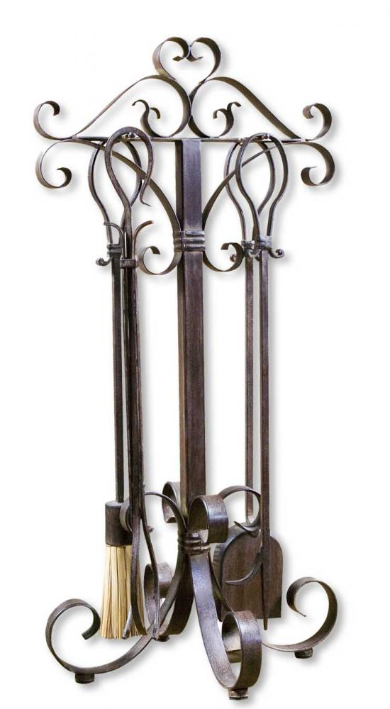 House of Lights in Mayfield Heights, Ohio, United States,  8M2D, Uttermost Daymeion Metal Fireplace Tools, Set/5, Daymeion