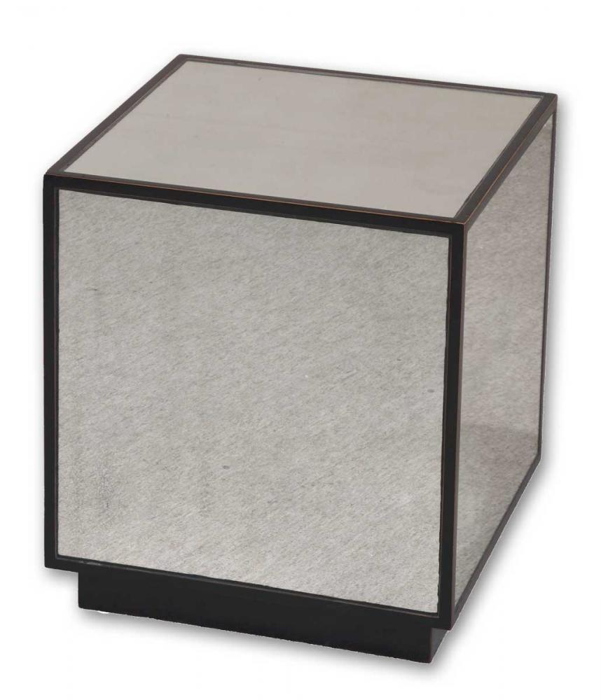 House of Lights in Mayfield Heights, Ohio, United States,  JQ1N, Uttermost Matty Mirrored Cube Table, Matty
