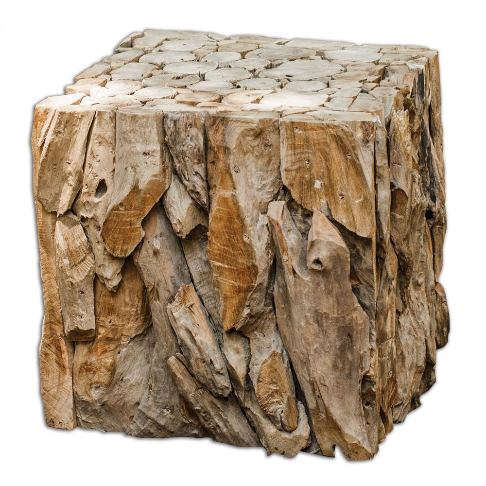House of Lights in Mayfield Heights, Ohio, United States,  Y5J2, Uttermost Teak Root Bunching Cube, Teak Root