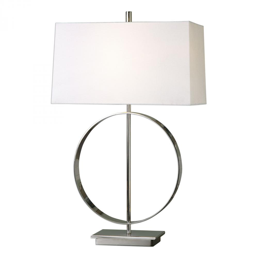 House of Lights in Mayfield Heights, Ohio, United States,  9TULG, Uttermost Addison Polished Nickel Lamp, Addison