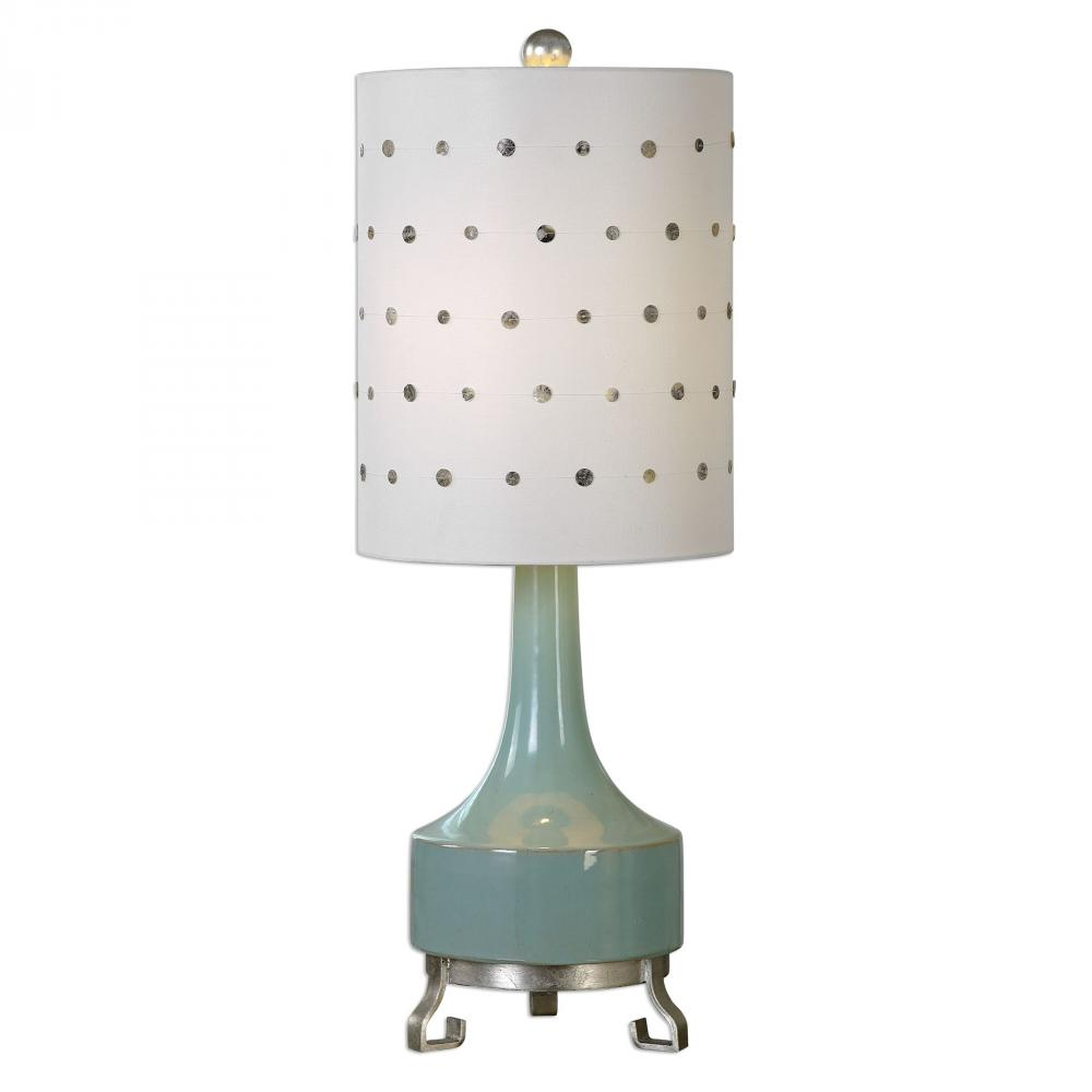 House of Lights in Mayfield Heights, Ohio, United States,  9TUMQ, Uttermost Cayucos Pistachio Green Lamp, Cayucos