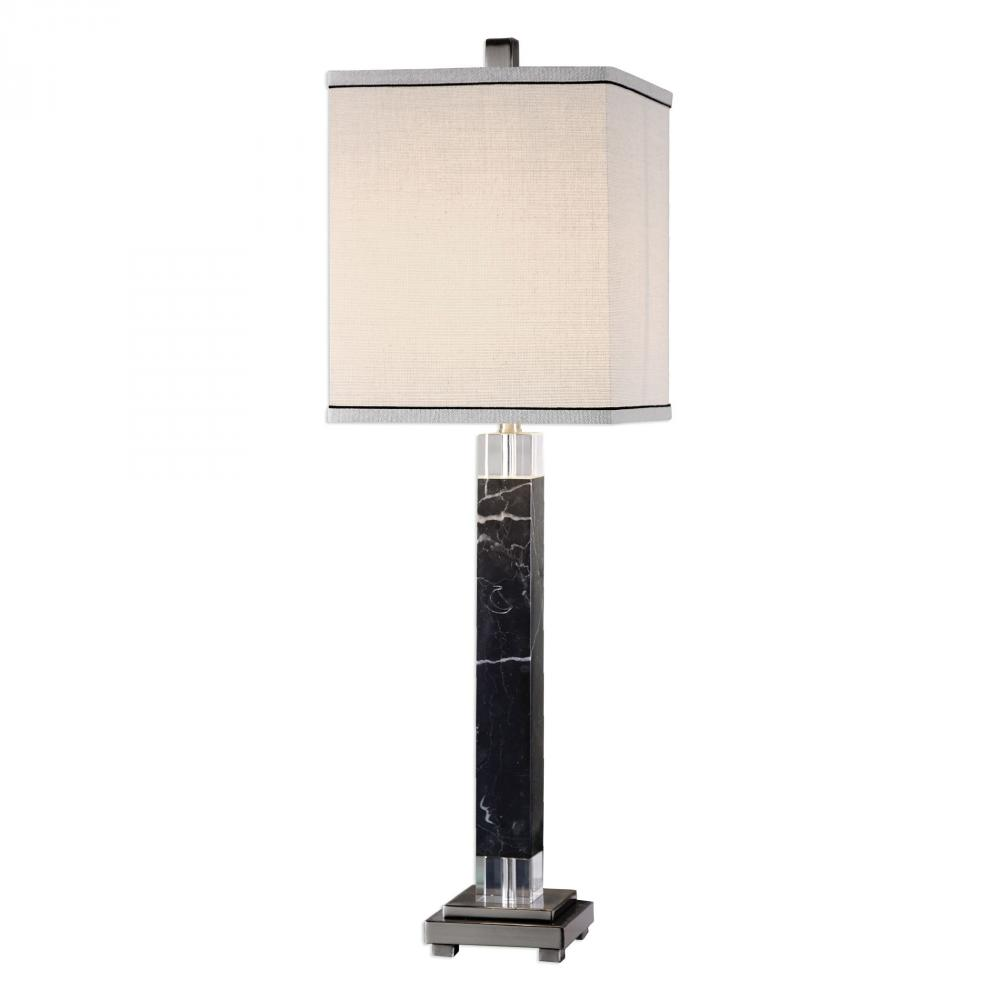 House of Lights in Mayfield Heights, Ohio, United States,  9WX7D, Uttermost Brigida Black Marble Accent Lamps, Brigida