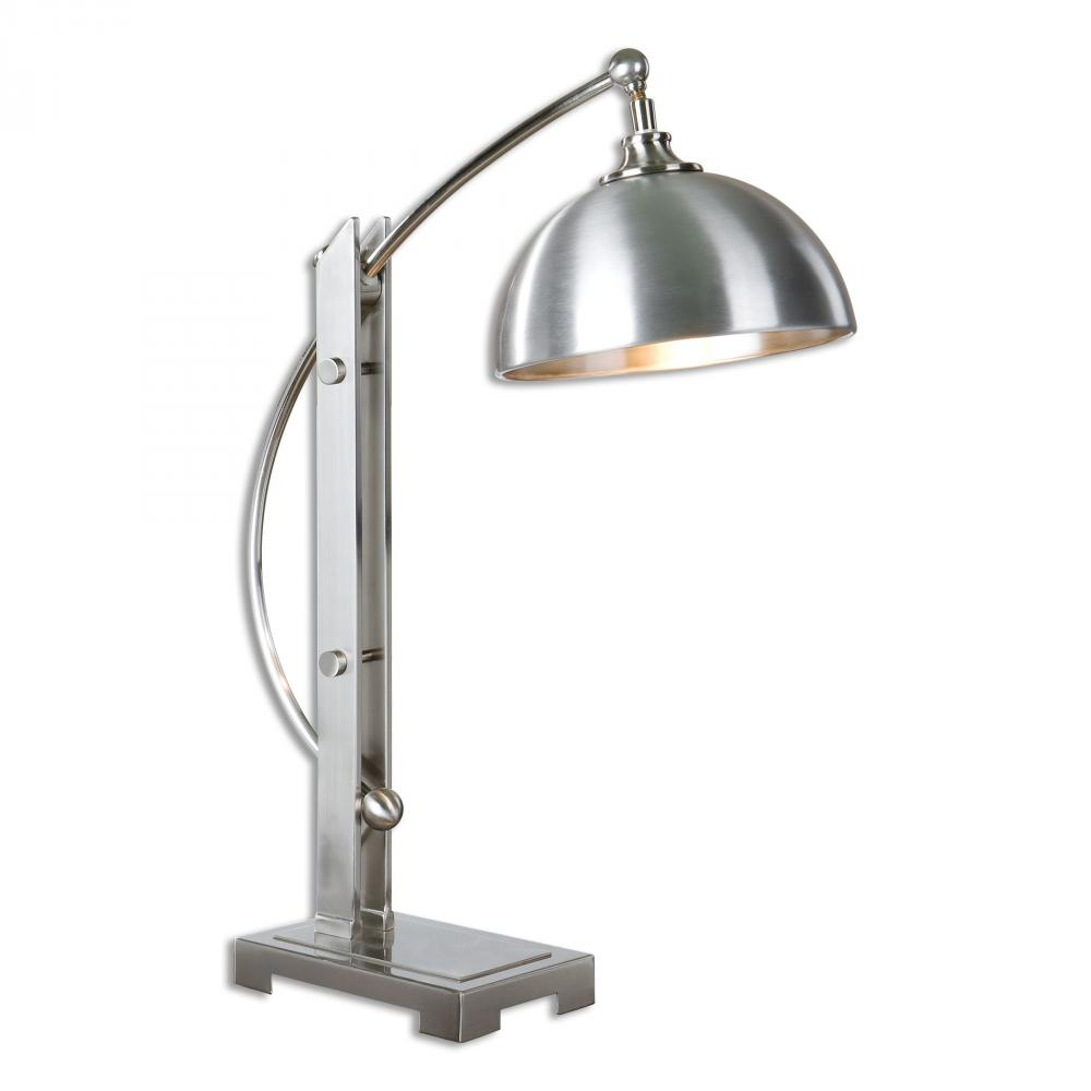 House of Lights in Mayfield Heights, Ohio, United States,  9PTZ4, Uttermost Malcolm Brushed Nickel Desk Lamp, Malcolm