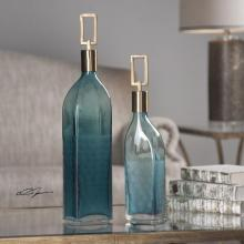 Uttermost 20076 - Uttermost Annabella Teal Glass Bottles, S/2